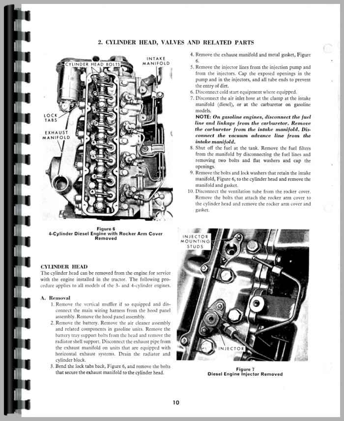 Ford 5000 Tractor Parts Diagram : tractor, parts, diagram, Engine, Service, Manual