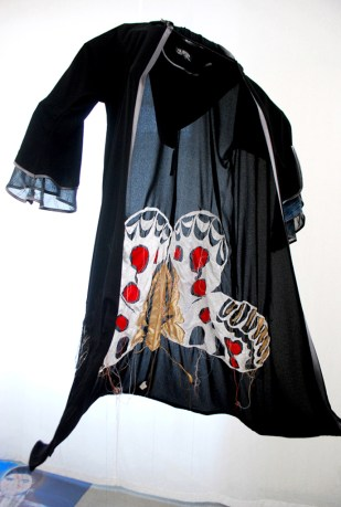 ABAYA-APOLLONIDE / embroidery with fabric / 2x1m / 2010