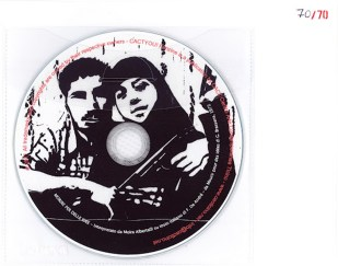 """FANZINE CACTYOU! """"BLACK WIDOW"""" / CD with the song """"Mourir pour des idées (Dying for ideas)"""" from Georges Brassens sung by Moira Albertalli / 2011"""