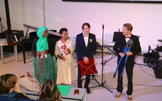 Fire av de fine elevene våre: Shukri,Betiel, Torbjørn og Oskar.