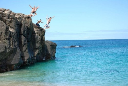 Jumping Off Waimea Rock