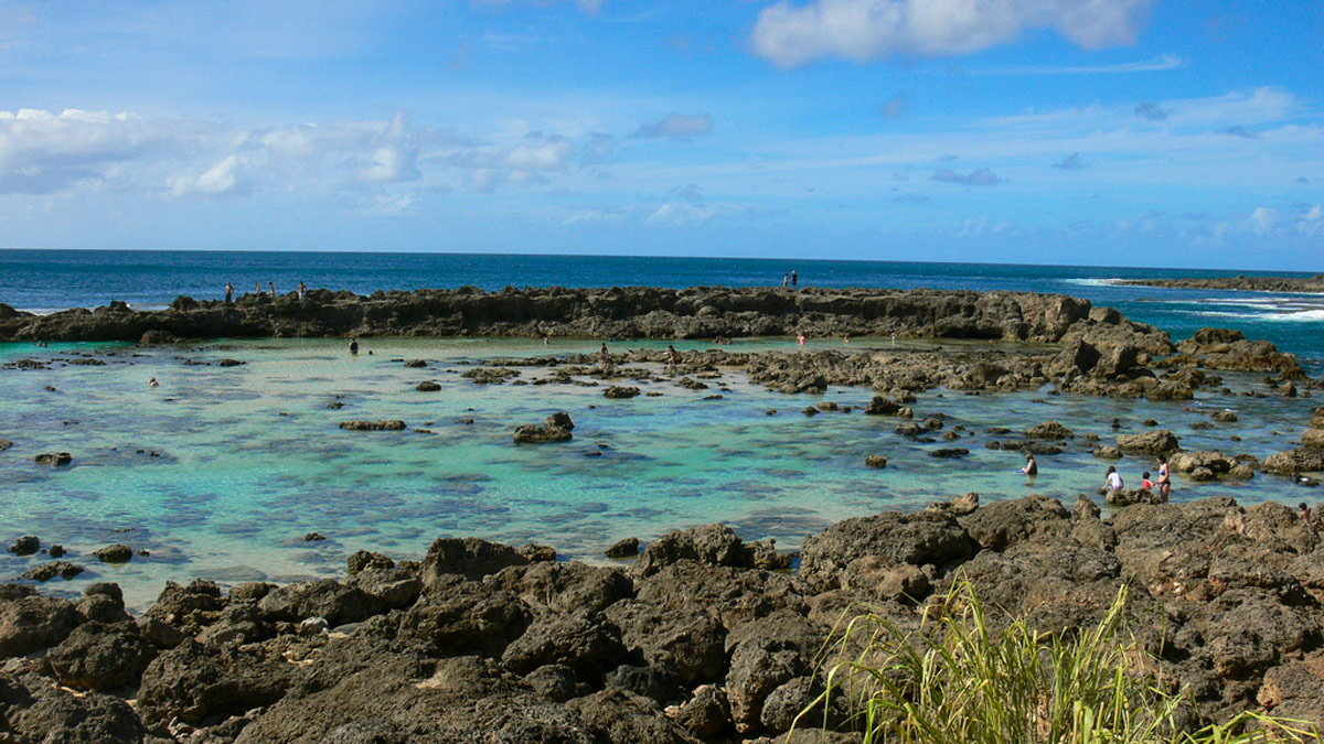 sharks cove north shore oahu hawaii