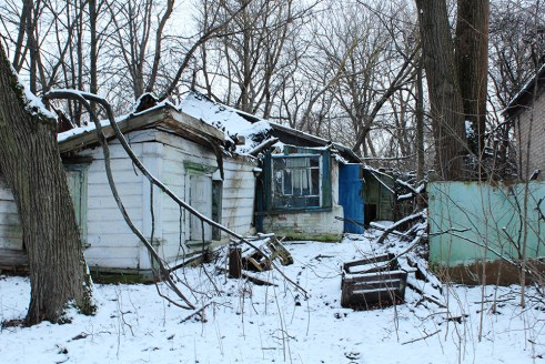 Abandoned house in Chernobyl township