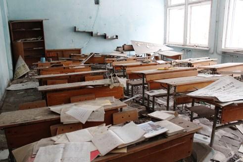 Chernobyl, high school in Prypyat