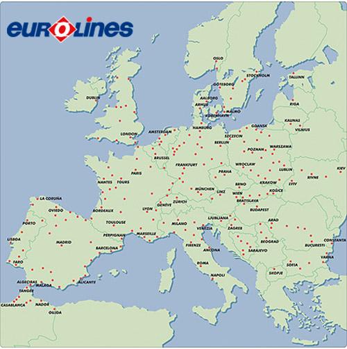 Eurolines Map