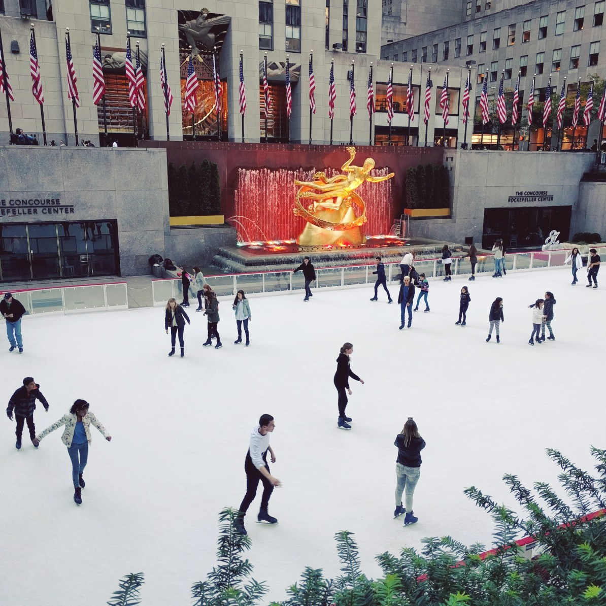 Rockerfeller Plaza Ice Rink, Christmas in New York City