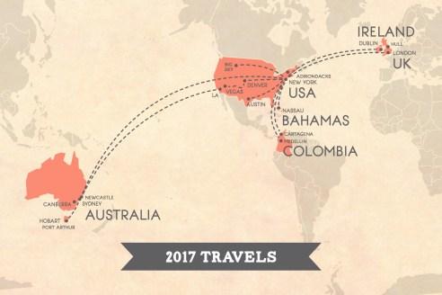 2017 Travel Map