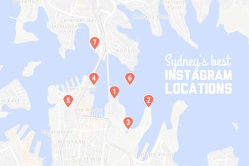 Sydney's best Instagram locations map
