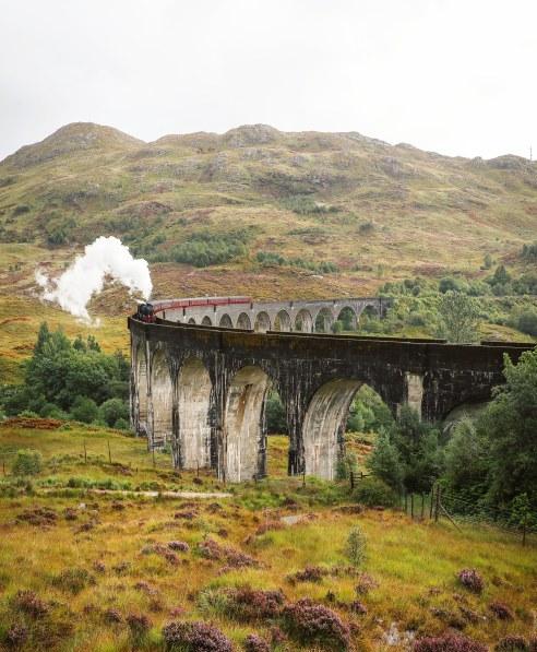 The Hogwarts Express at Glenfinnan Viaduct