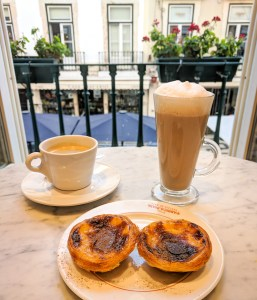 Pastel de nata in a Lisbon cafe, Portugal