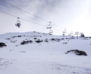 Perisher ski lift, NSW, Australia