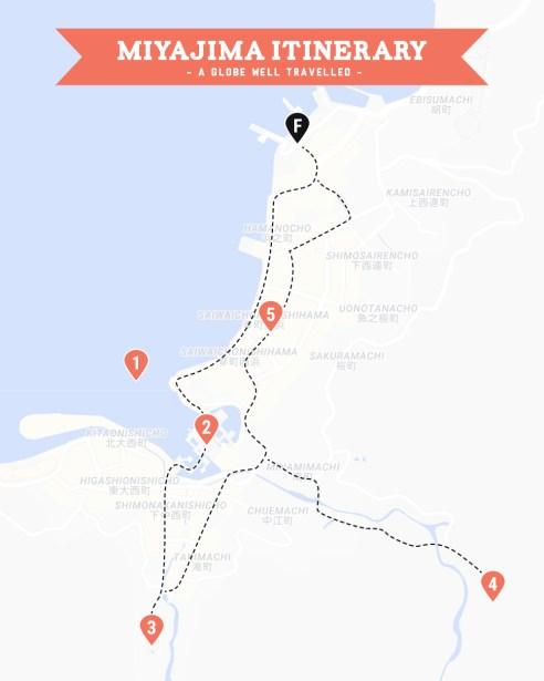Miyajima walking tour map