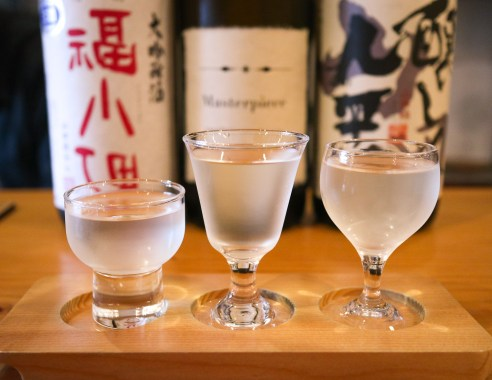 Sake tasting in Kyoto, Japan