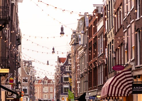 The 9 Little Streets district in Amsterdam