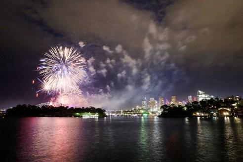 Sydney NYE fireworks from Balmain