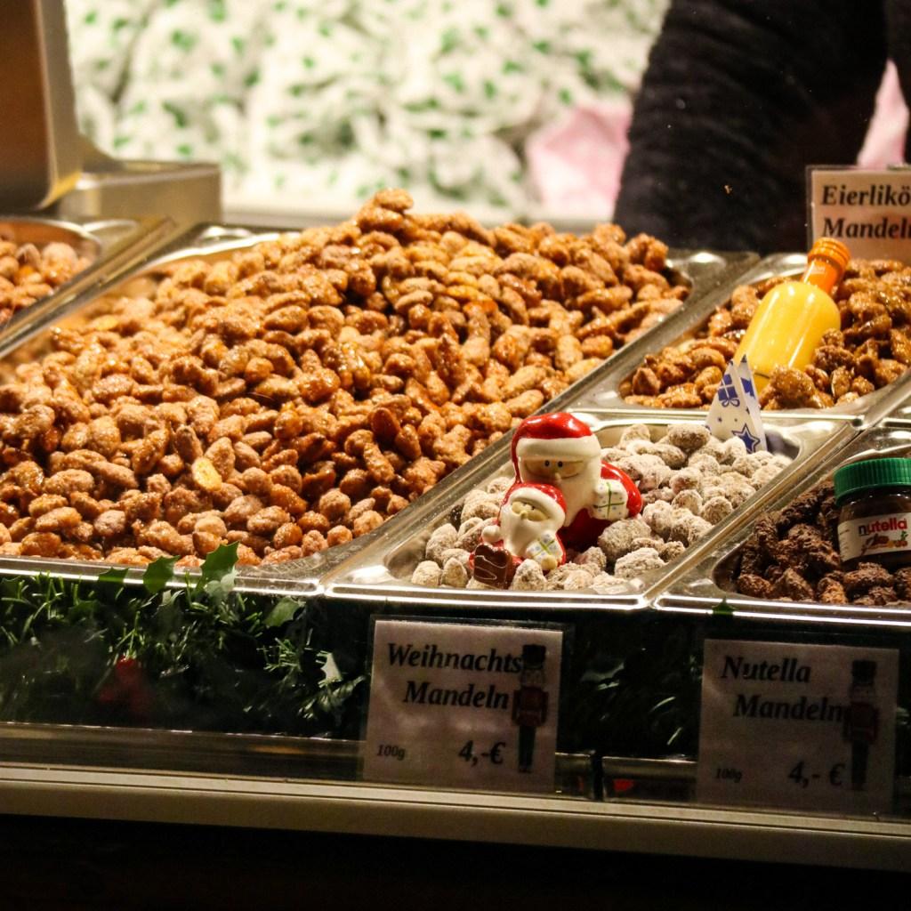 Gebrannte Mandeln (roasted almonds) at a Christmas market in Leipzig
