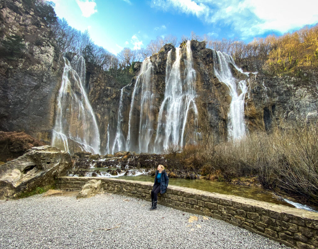 The Big Waterfall at Plitvice Lakes National Park in Croatia