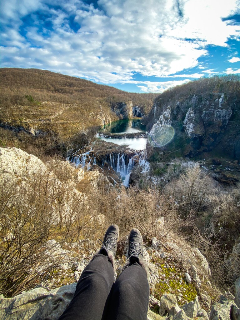 Secret viewpoint at Plitvice Lakes National Park in Croatia