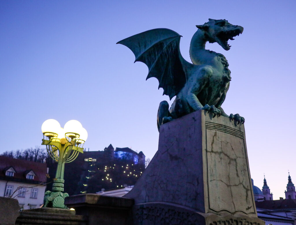 The Dragon Bridge in Ljubljana, Slovenia