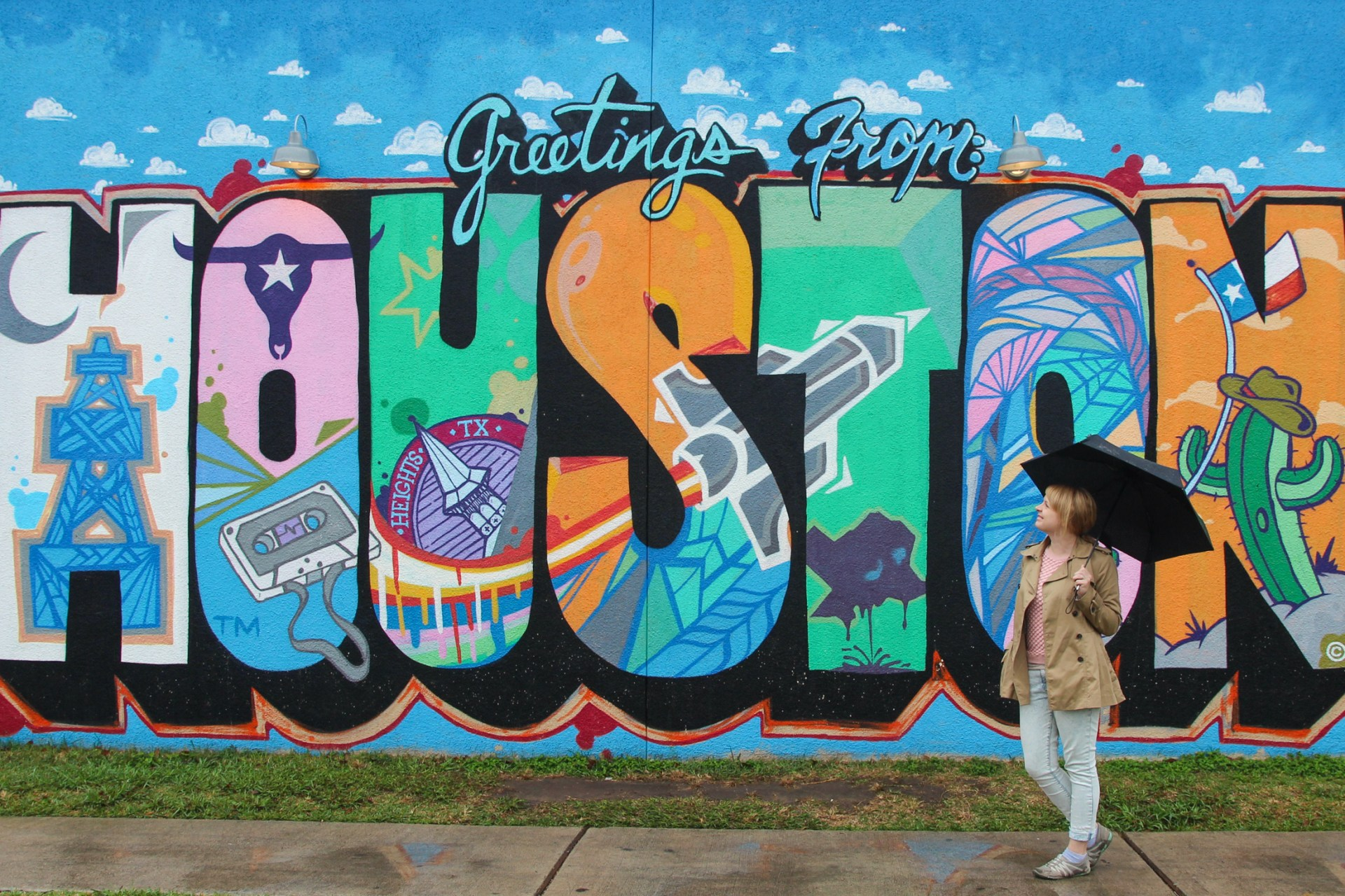 Greetings From Houston mural in Houston, Texas