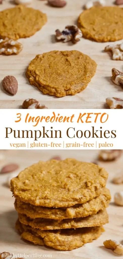Delicious vegan pumpkin cookies.