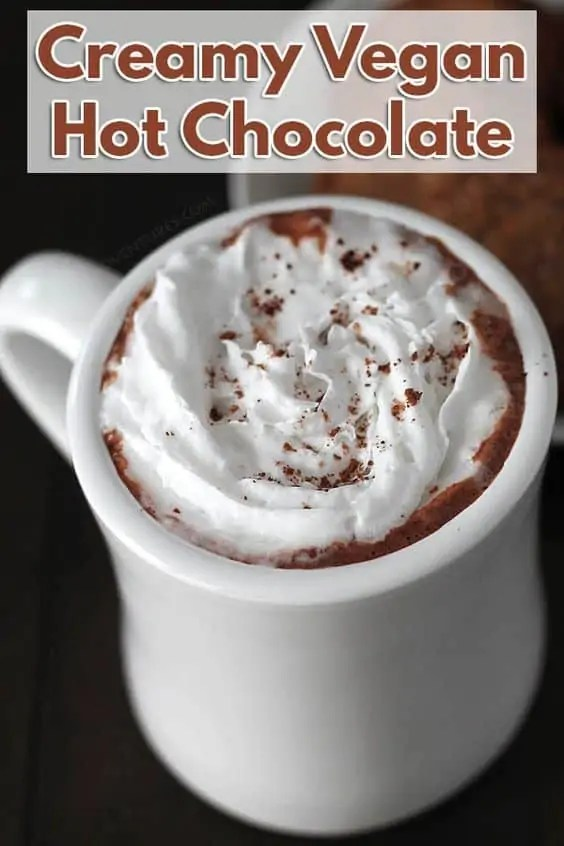 Creamy vegan hot chocolate.