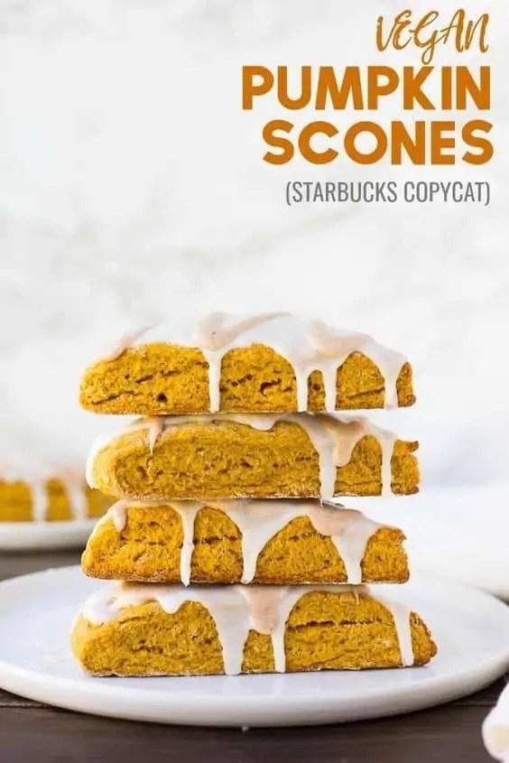 Delicious vegan pumpkin scones.