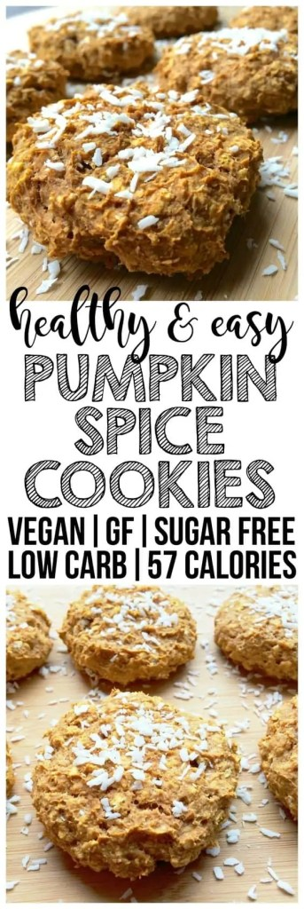 Healthy and easy pumpkin spice cookies.