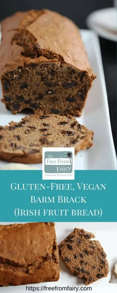 Vegan Irish fruit bread.