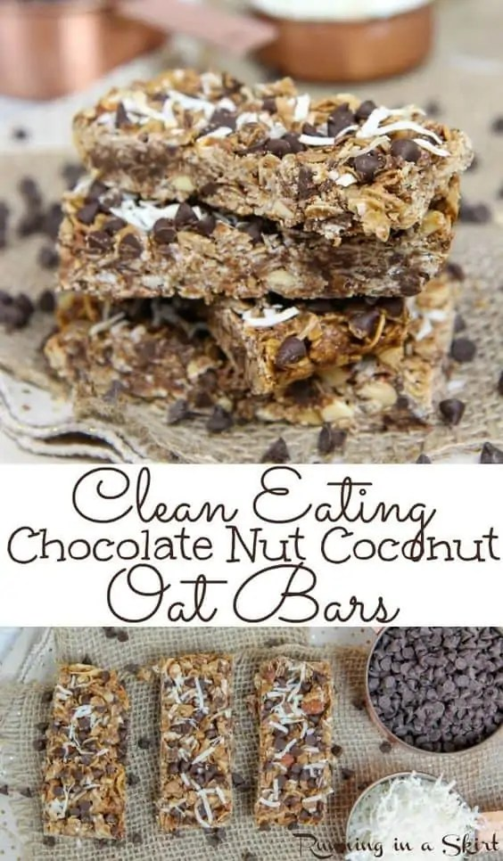 Chocolate nut coconut oat bars