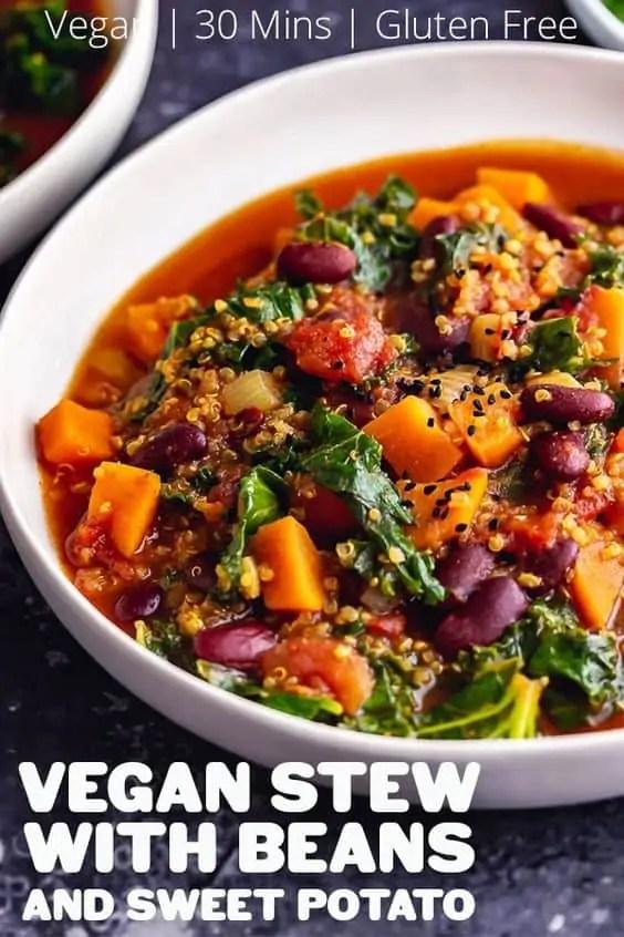 Vegan Stew with Beans & Sweet Potato