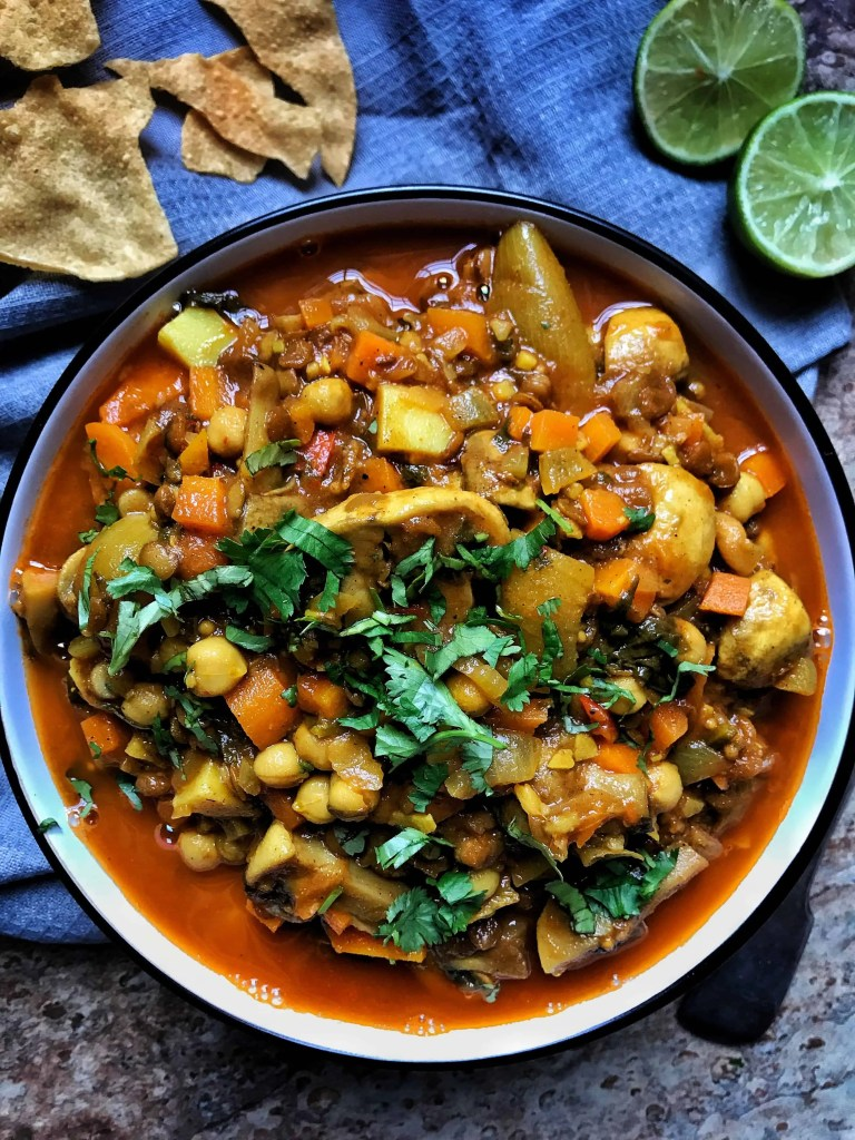 Slimming World Vegan Mushroom, Chickpea and Green Lentil Curry