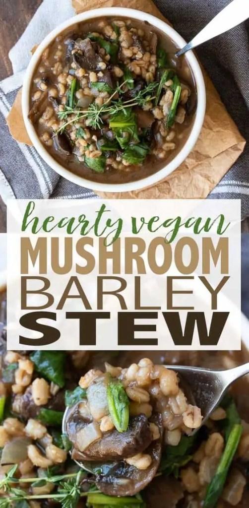 Vegan Barley Mushroom Stew