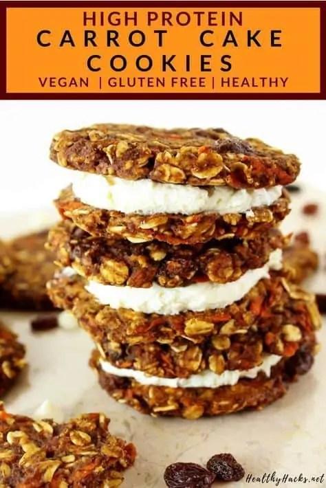 Healthy fall vegan carrot cake cookies