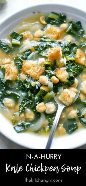 Kale Chickpea Soup