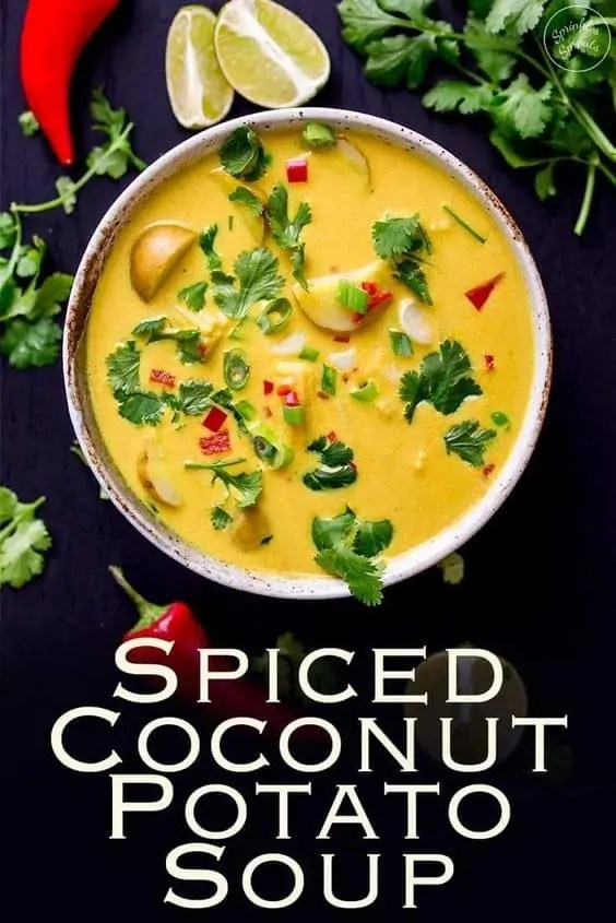 Spiced Coconut Potato Soup