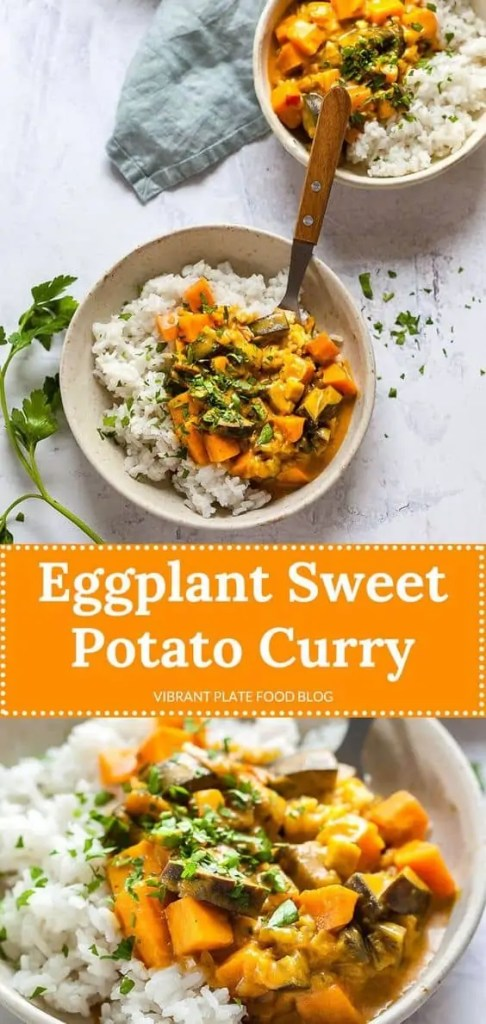 Vegan Eggplant Sweet Potato Curry