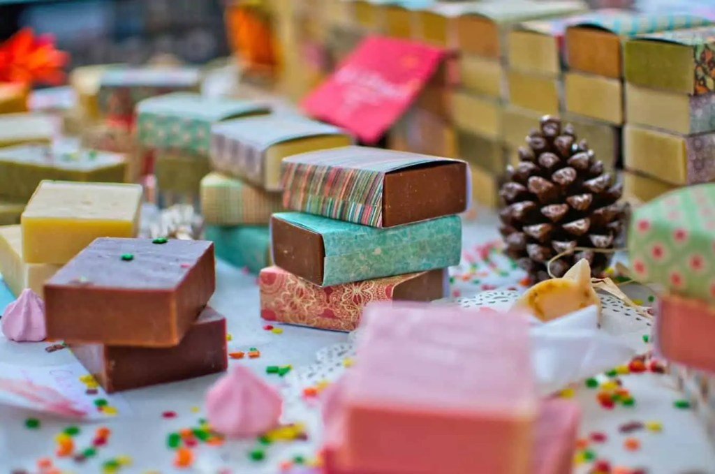 Natural and homemade self care soap bars - zero waste Christmas