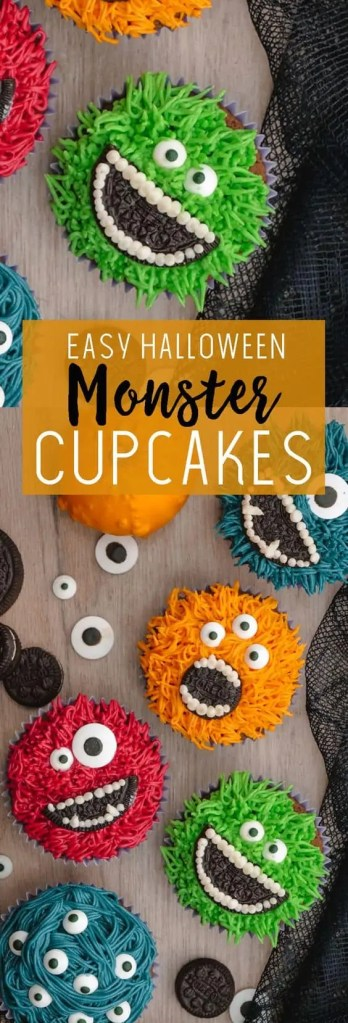 Halloween Cupcakes: Monster Cupcakes