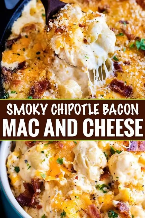 Smoky Chipotle Bacon Mac and Cheese