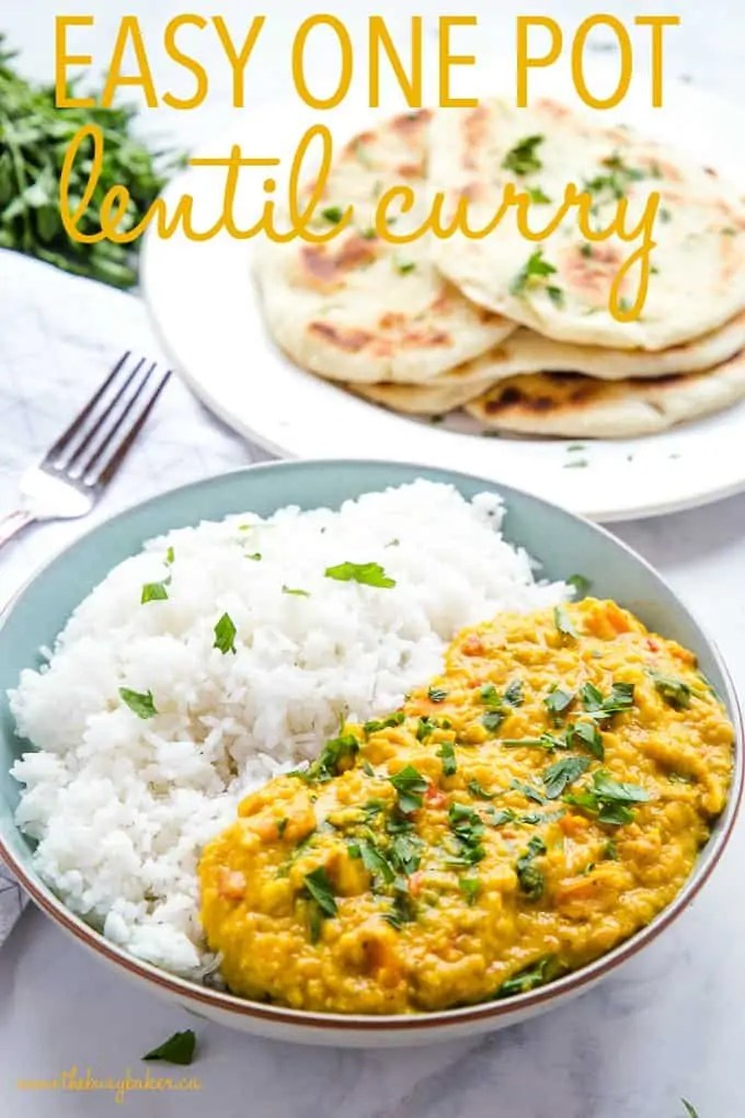 Easy One Pan Lentil Daal Curry