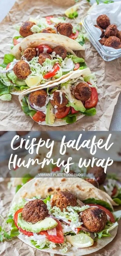 Crispy Falafel in a Hummus Wrap