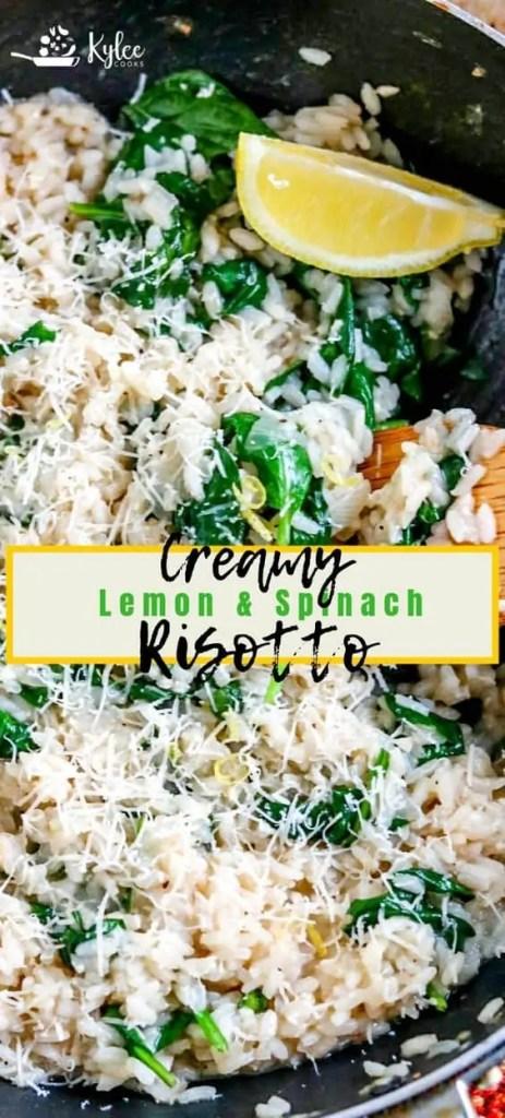 Creamy Lemon Spinach Risotto