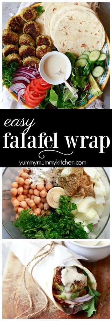 Easy Falafel Wrap