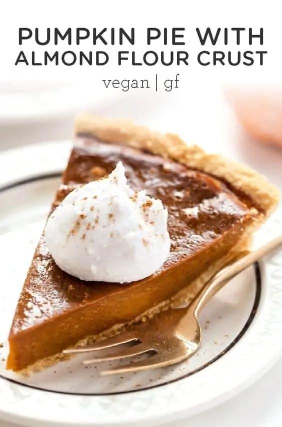 Vegan Pumpkin Pie with Almond Flour Pie Crust