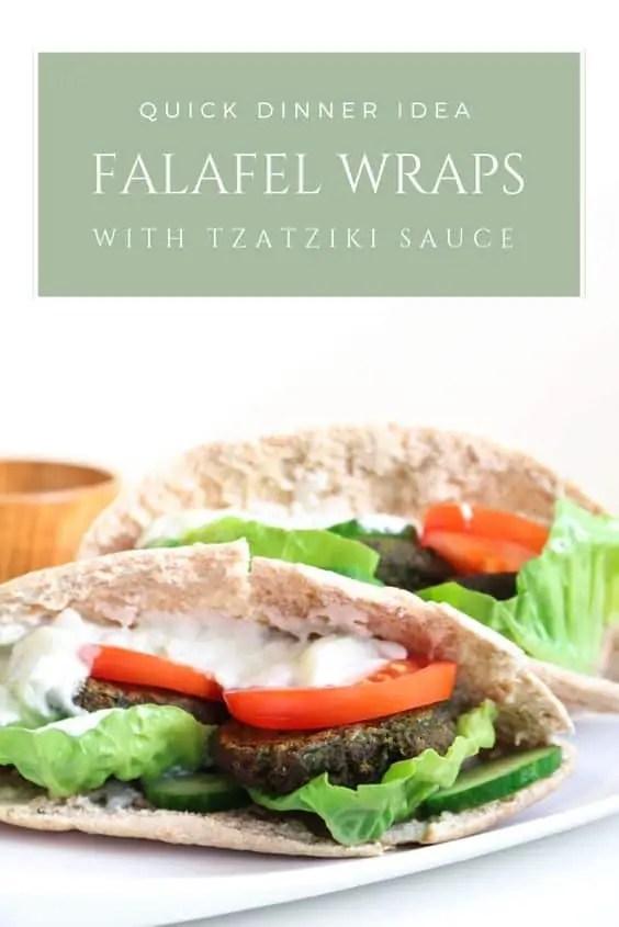 Falafel Wraps with Tzatziki Sauce