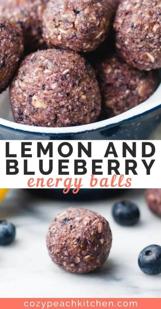 Blueberry Lemon Energy Balls