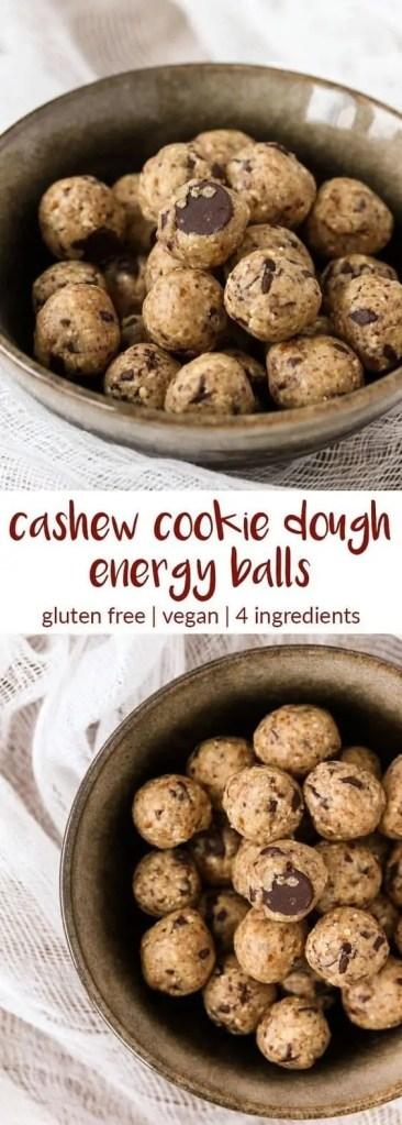 Cashew Cookie Dough Energy Bites
