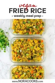 Fried Rice Vegan Meal Prep for the Week