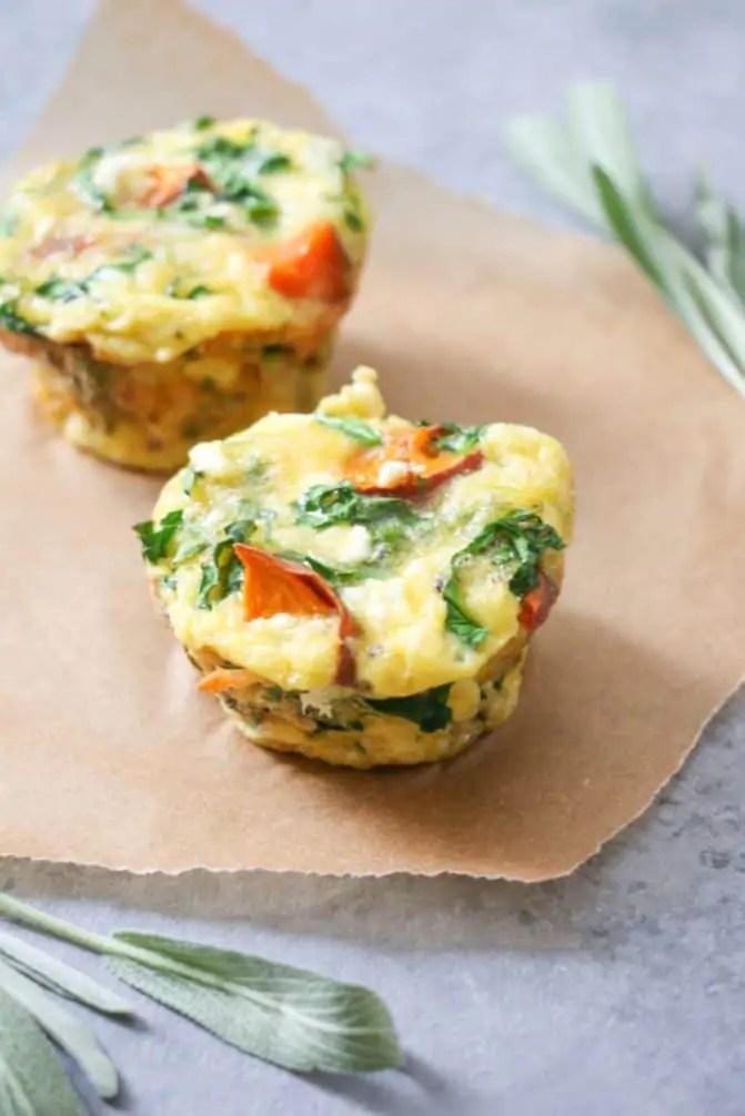 5-Ingredient Sweet Potato & Sage Egg Muffins